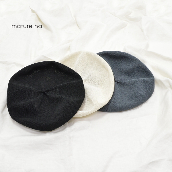 【SALE】レディース/mature ha.【マチュアーハ】MAS20-20 beret top gather big silk【正規取扱】20s
